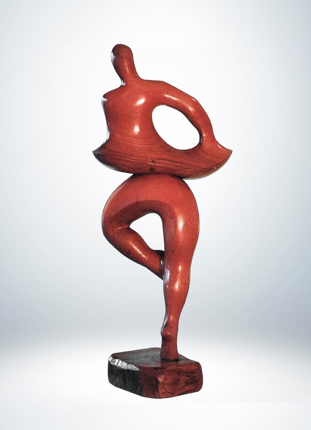 Escultura-Bailarin-Cedro-A-Figurativo-Abstracto-RD.Escultor