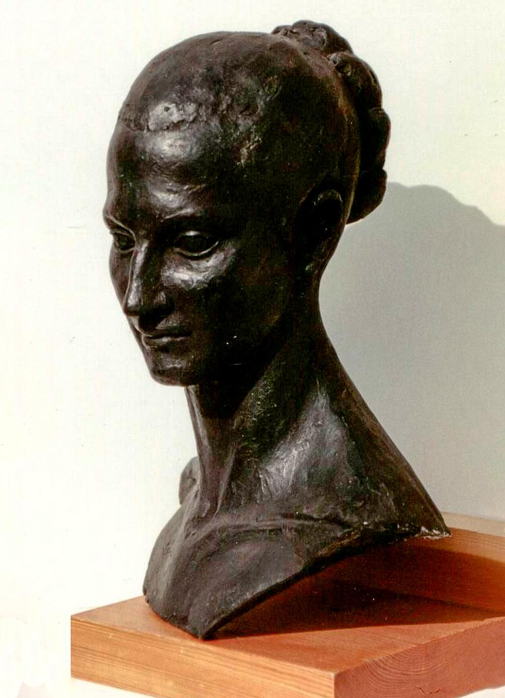 Escultura-Retrato-de-Montse-Figurativo-Abstracto-RD.Escultor