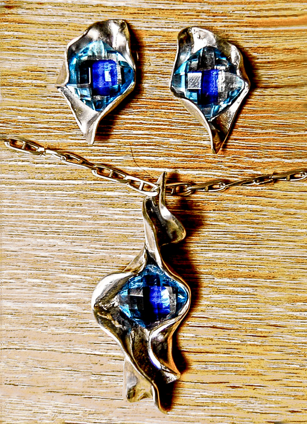 Joyeria-Colgante-y-Pendientes-Conjunto-Azul-Plata-RD.Escultor
