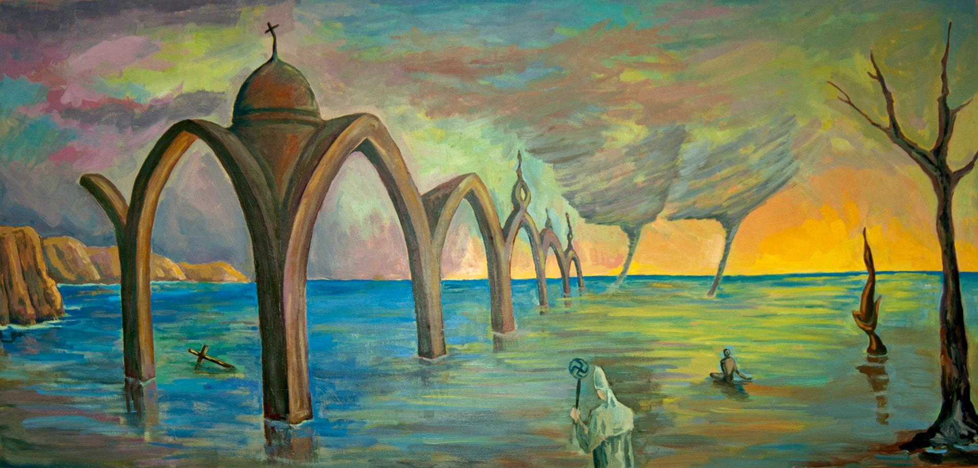 Pintura-Ciclones-en-la-iglesia-RD.Escultor