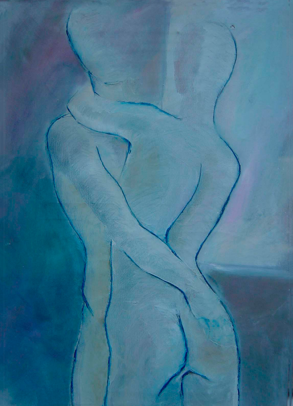Pintura-El-abrazo-RD.Escultor