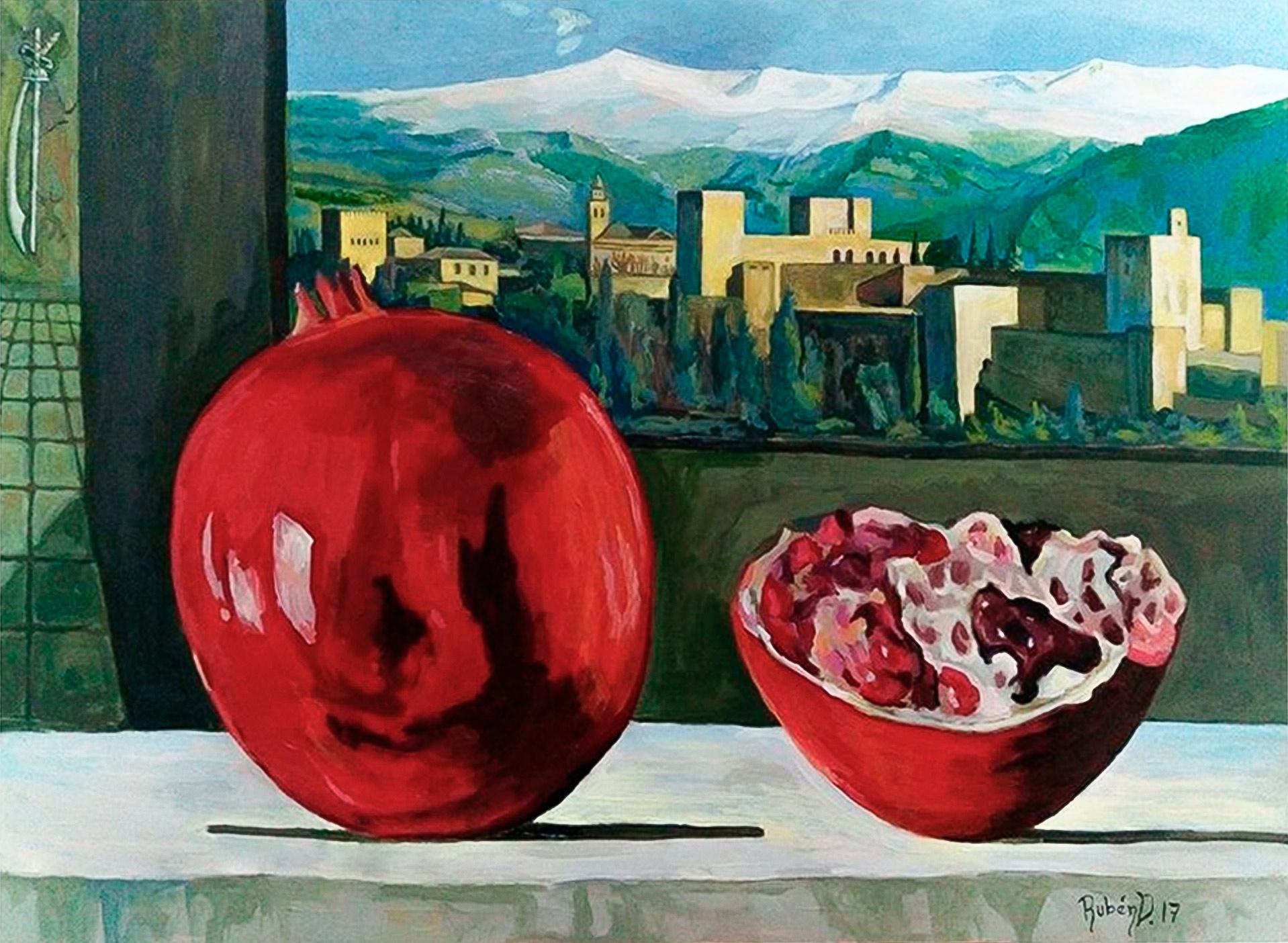 Pintura-Historia-de-la-Alhambra-RD.Escultor