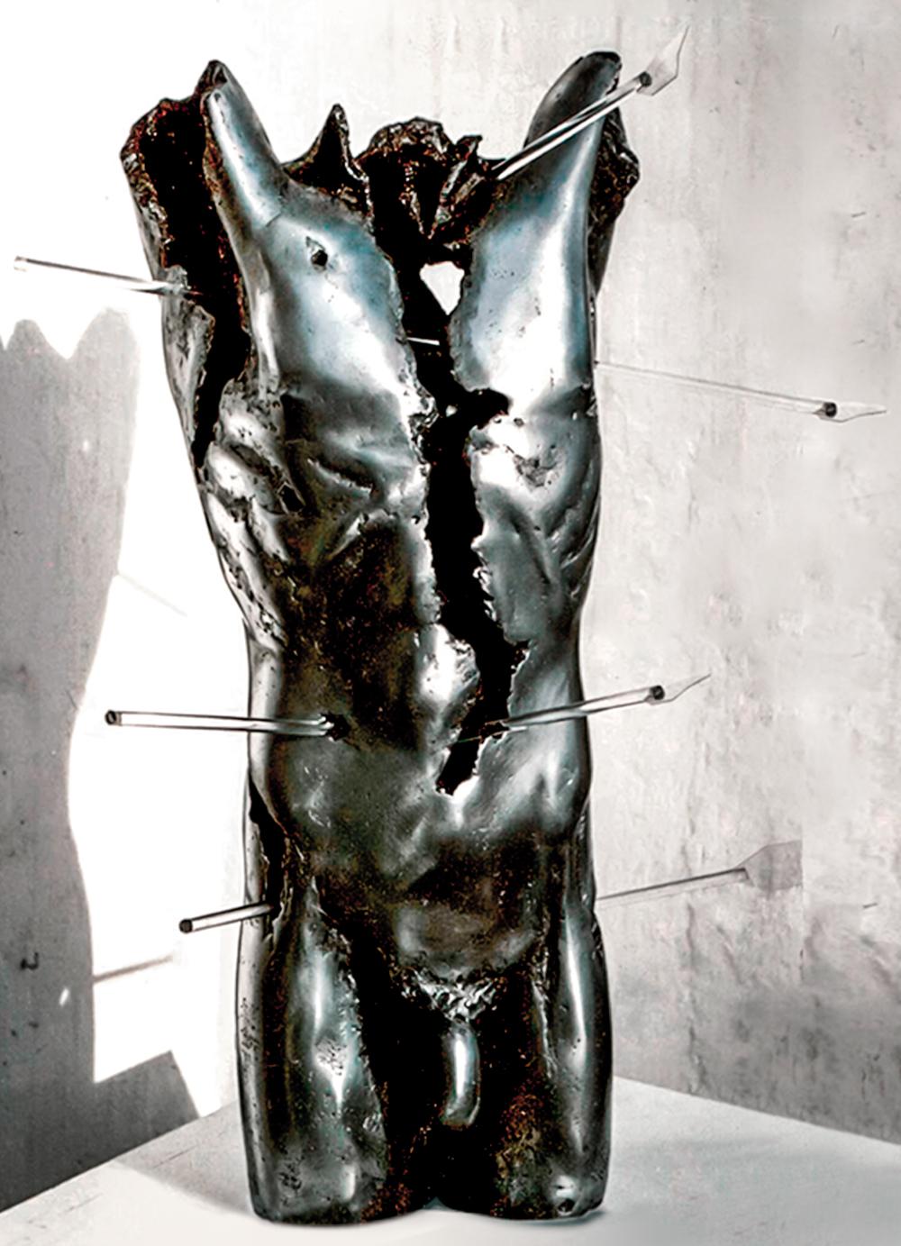 Escultura-San-Sebastian-Aluminio-C.Danone-RD.Escultor
