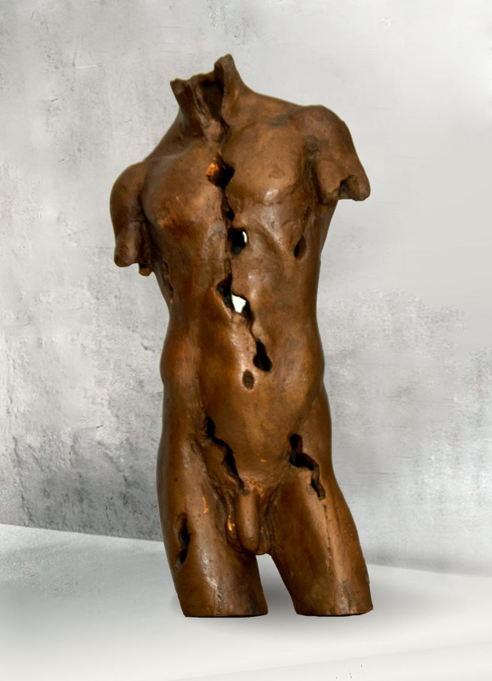 Escultura-Torso-Masculino-Bronce-A-C.Danone-RD.Escultor