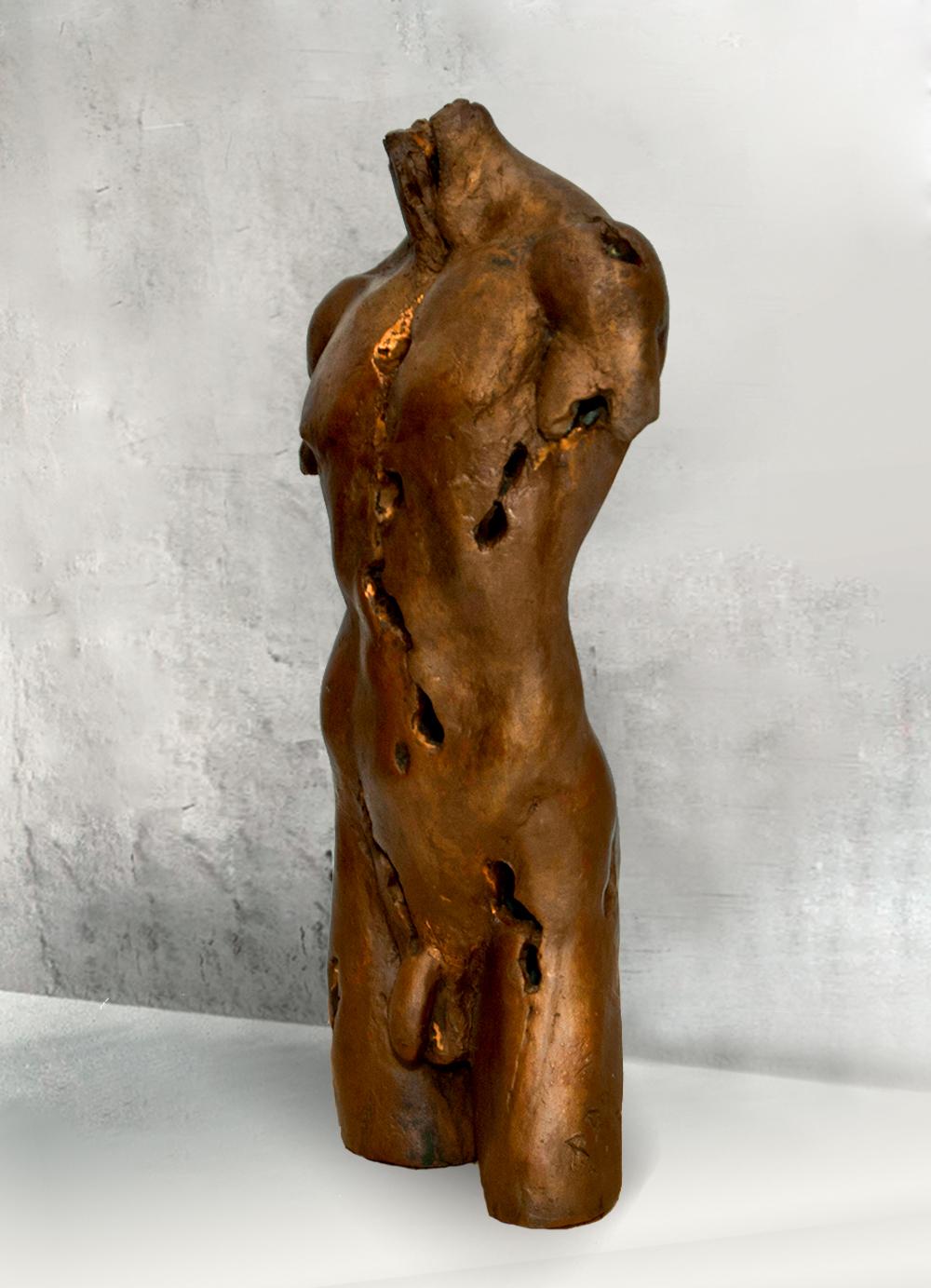 Escultura-Torso-Masculino-Bronce-B-C.Danone-RD.Escultor